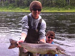 Nathan Mesher, Waterloo Ontario (Nathan's 1st Atlantic Salmon)