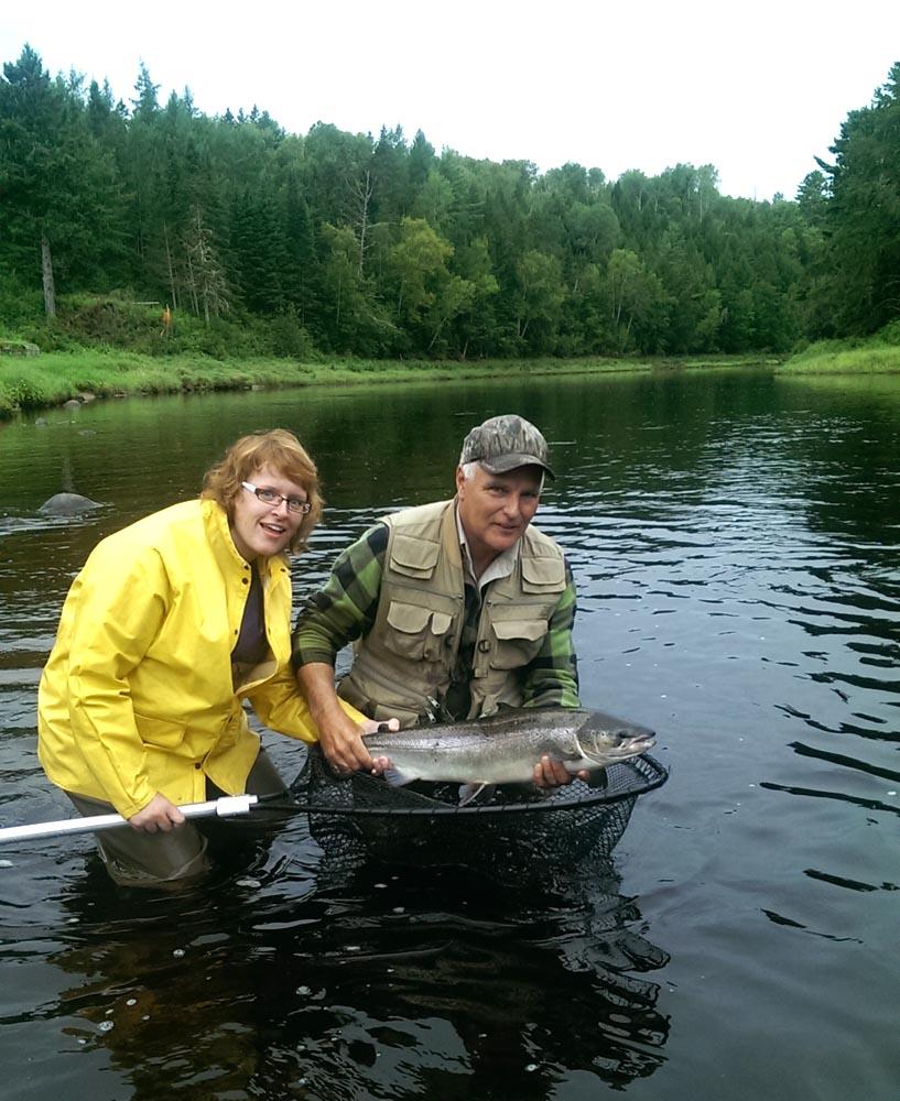 Fly fishing atlantic salmon miramichi river reports for Salmon river fishing reports