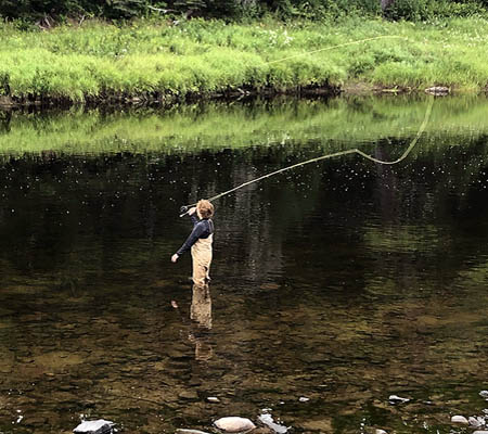 Fly Fishing Atlantic Salmon Miramichi River fishing Reports