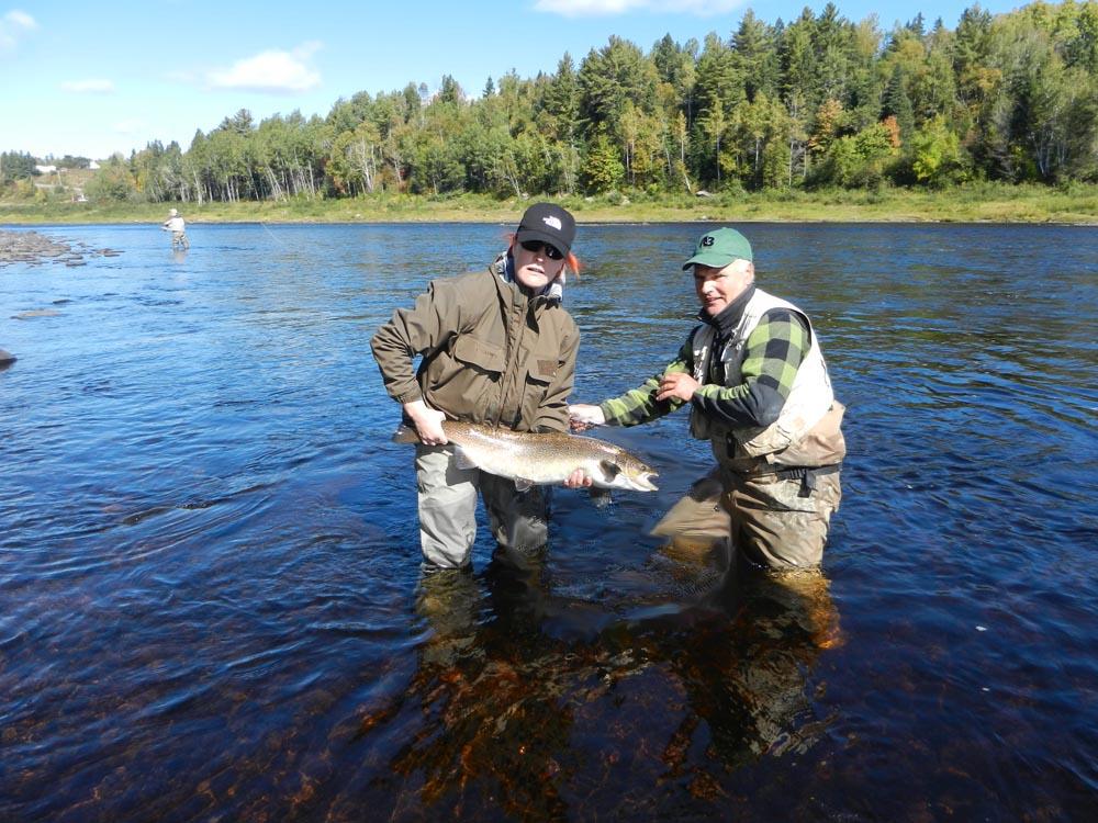 Fly fishing atlantic salmon miramichi river fishing for Trouts fishing report